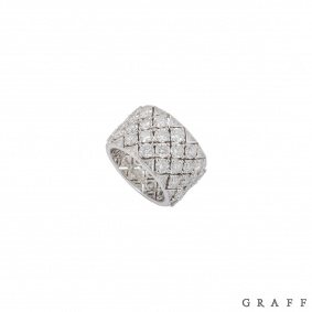 Graff White Gold Diamond Snowfall Ring